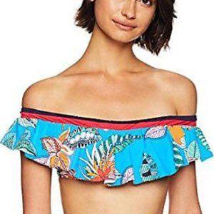 Trina Turk Off Shoulder Bikini Top US 10